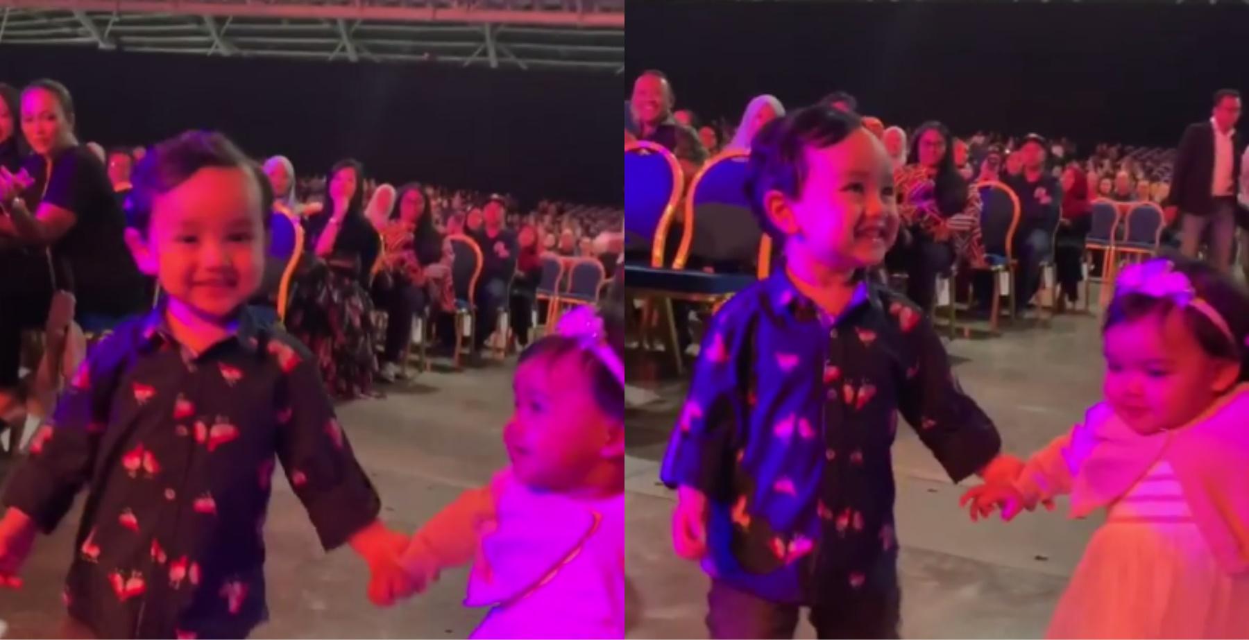"""[VIDEO] """"Sweet La Arif Ni…"""" – Aksi Arif Jiwa Pimpin Aafiyah Ketika Konsert Siti Nurhaliza Tarik Perhatian Netizen, Comel Sangat!_5c7a9557b4be3.jpeg"""